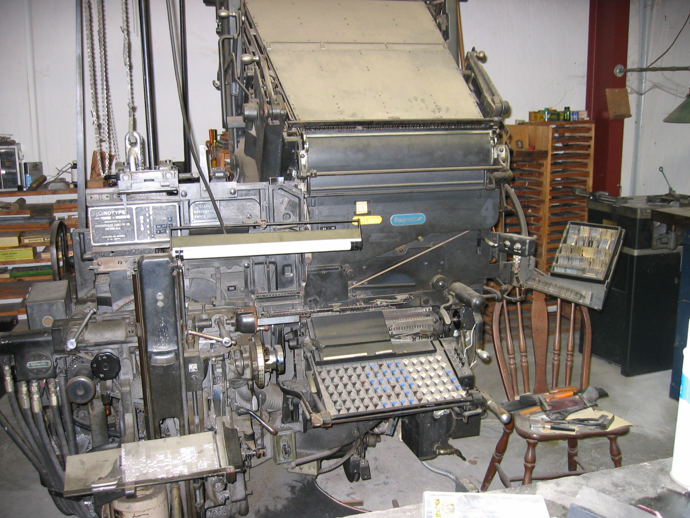 Complete Letterpress Print Shop for sale in Florida