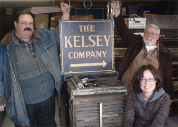 Kelsey Company Sign - Paul Aken, Rich Polinski, Sarah Smith