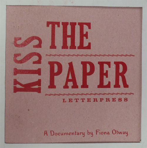 """Kiss The Paper"" DVD Sleeve"