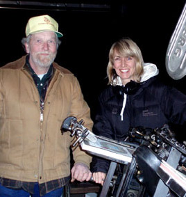 Printer Alan Runfeldt with director Bronwen Hughes