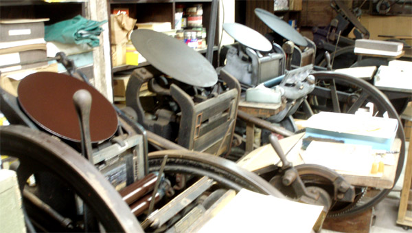 Platen Presses of The Excelsior Press collection