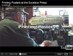 Video - Printing Leekfest Posters
