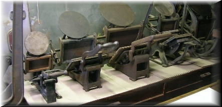 Collection of Kelsey Table Top Printing Presses