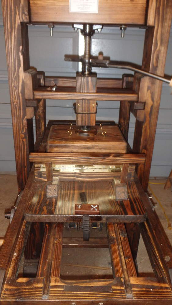 the american common press as ben franklin used. Black Bedroom Furniture Sets. Home Design Ideas